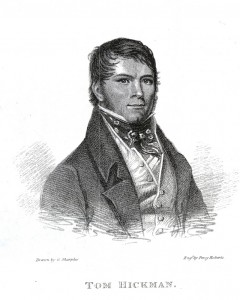 Fig. 4. Tom Hickman, 'The Gas-Light Man' (1795– 1822), by George Sharples. In Annals of Sporting and Fancy Gazette, vol. 3 (1823)
