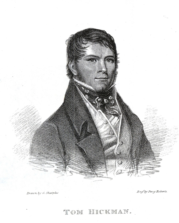 Fig. 4. Tom Hickman, 'The Gas-Light Man' (1795– 1822), by George Sharples. In Annals of Sporting and Fancy Gazette, vol. III (1823)