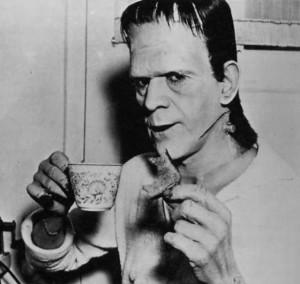 Frankenstein's Creature (Boris Karloff) takes a break (1931)
