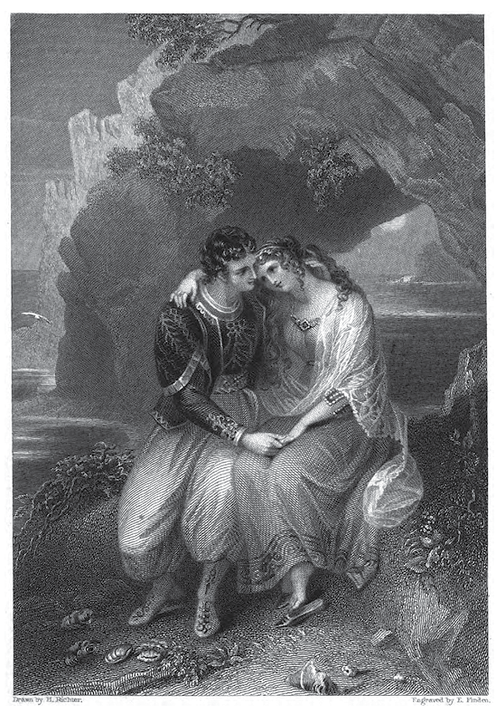 Fig. 1. Henry James Richter, Illustration to <i>Don Juan</i>, in <i>The Byron Gallery</i>.