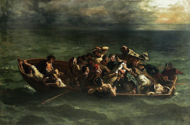Fig. 2. Eugène Delacroix, <i>The Shipwreck of Don Juan</i>, oil on canvas (1840).