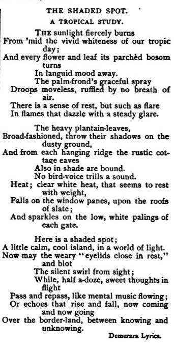 "Egbert Martin, ""The Shaded Spot,"" Littel's Living Age No. 2246 (July 9, 1887), p. 66"