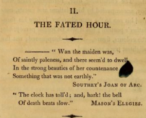 The Fated Hour - Epigraph