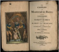 A later, 1820 version of The Castles of Montreuil and Barre. University of VA Library.