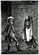 A very typical illustration from The Midnight Groan; or The Spectre of the Chapel: involving An Exposure of the Horrible Secrets of the Nocturnal Assembly (1808) from RictorNorton.co.uk