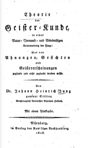 Possible Source: Theorie der Geisterkunde, 1808